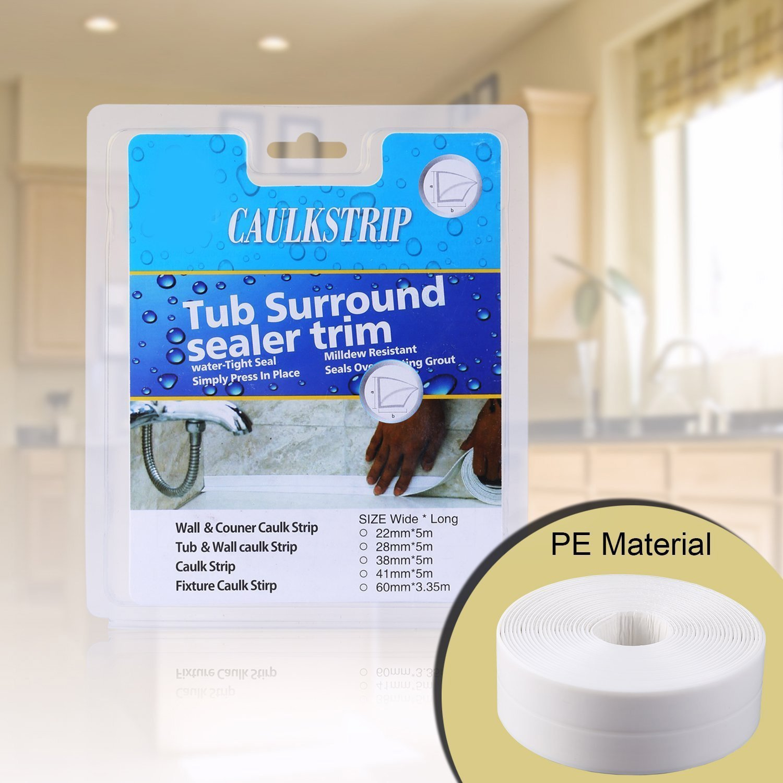 Amazon.com: Bathtub and Wall Sealing Caulk Strip Wall and Corner ...