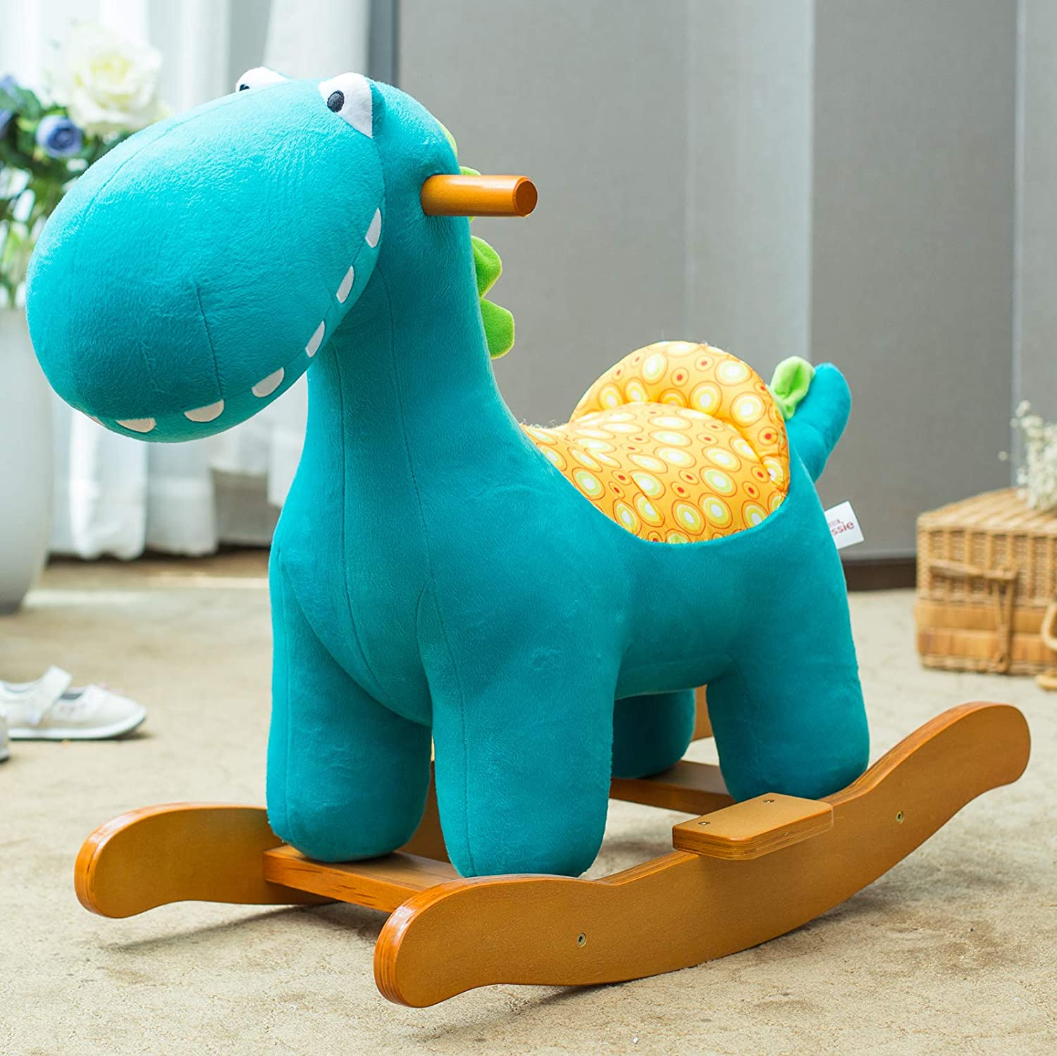 Kid Ride On Toy for 1-3 Year Old Toddler//Child Stuffed Ride Toy Blue-Infant Boy Girl Plush Animal Rocker hessie labebe Baby Rocking Horse