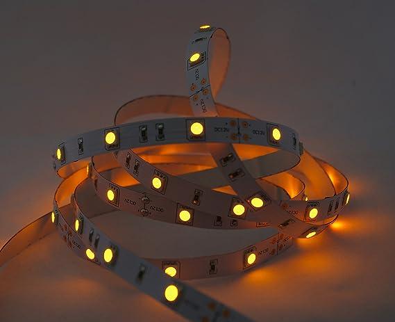 1metro de tiras con luces LED de color dorado, tira de 1
