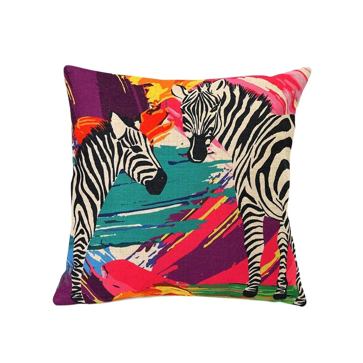 Nacnic Funda de cojin Zebras Colores