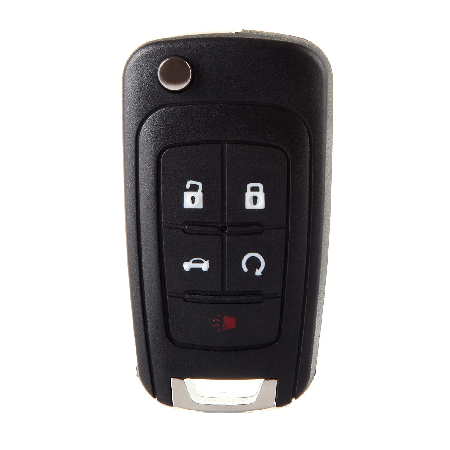 cciyu Replacement Remote Key Case Fob Flip Key Shell 1 X 5 Buttons Replacement fit for Buick/Chevy/GMC 057073-5210-1759372132