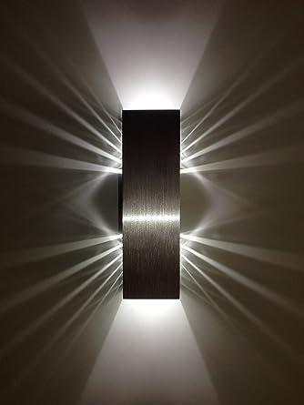 SpiceLED® Wandleuchte U0026quot;ShineLED 6u0026quot; 2x3W Weiß Dimmbar Wandlampe  Leuchte LED