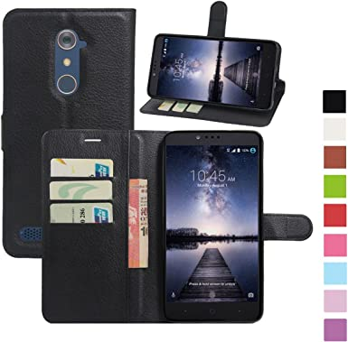 AMASELL ZTE Zmax Pro Funda, ZTE Carry Cases, [Stand View] PU Leather Flip Cover with Card Slots Holder Folio Wallet Case for ZTE Zmax Pro/Carry Z981: Amazon.es: Electrónica