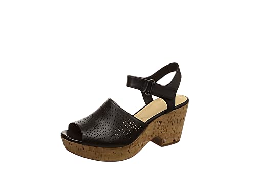 e88d9f2fcd2f Clarks Maritsa Nila Leather Sandals in Black Standard Fit Size 7 ...