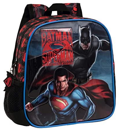 Warner 2582051 Superman-Batman Mochila Infantil, 5.75 litros, Color Gris: Amazon.es: Equipaje