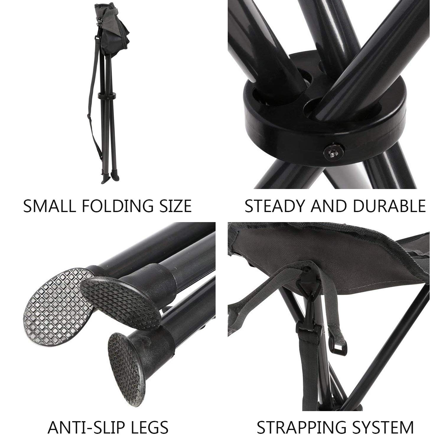 Groovy Portal Tall Slacker Chair Folding Tripod Stool For Outdoor Ocoug Best Dining Table And Chair Ideas Images Ocougorg