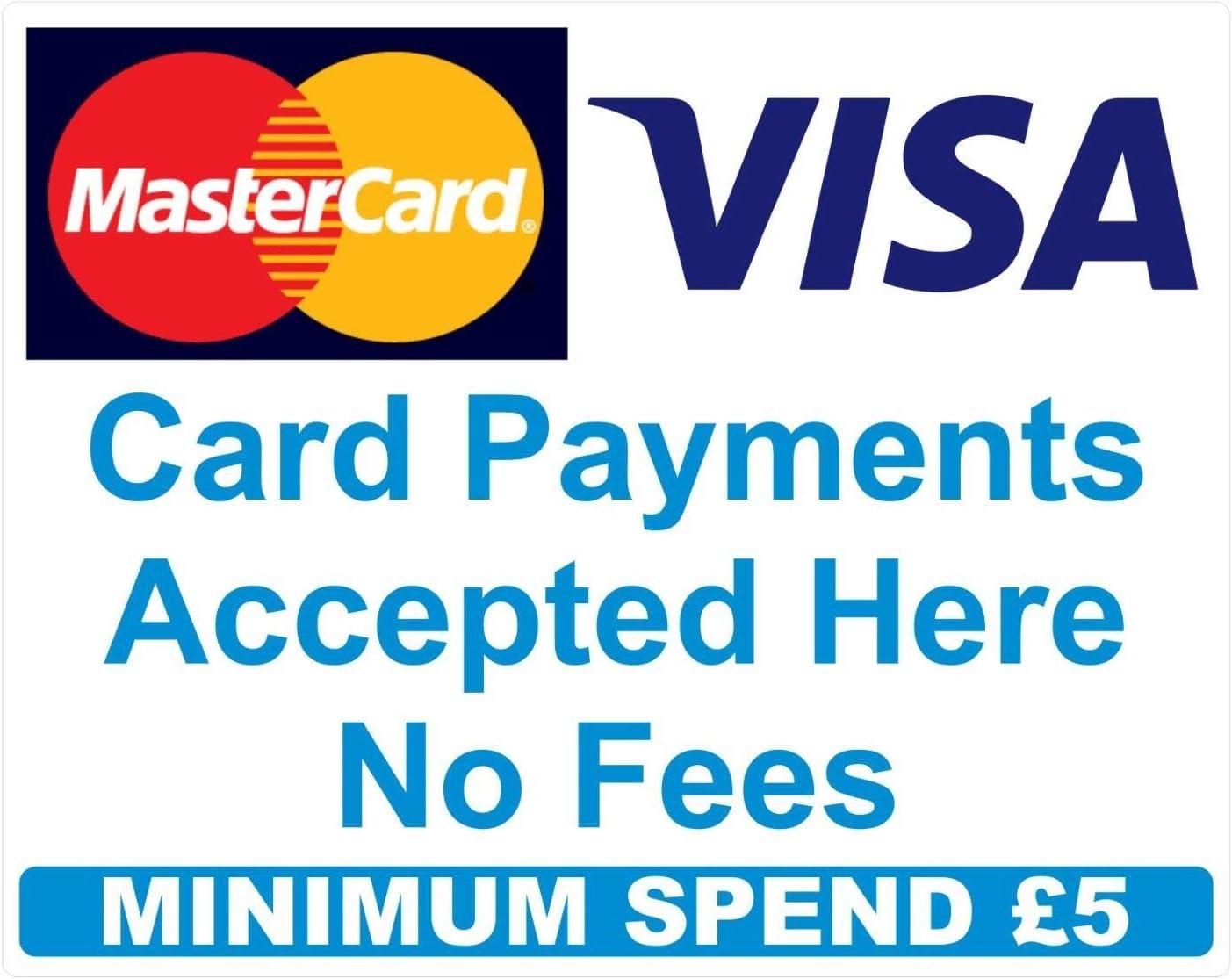 7 Minimum spend Credit Card Mastercard Visa Payment Stickers x7