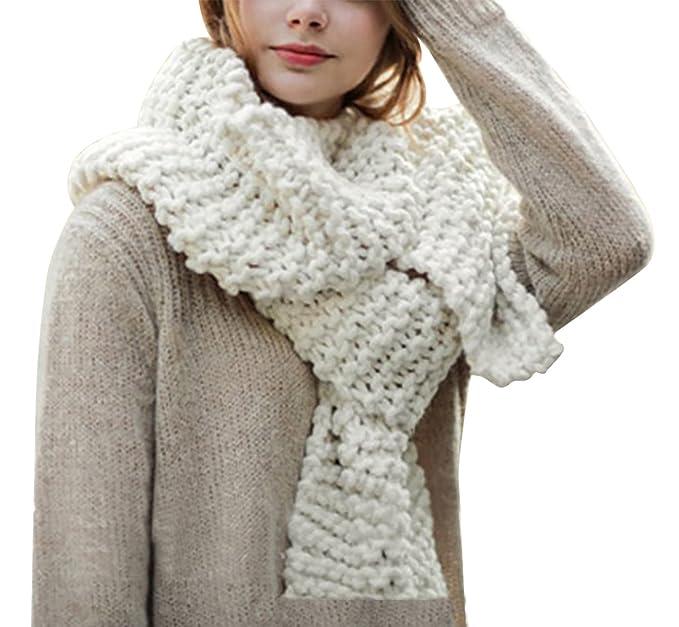 b28938d5e7a4e5 Hownew-X Damen Strickschal Lang XXL Warme Grobstrick Schal Oversize  Winterschal, 190 x 32cm
