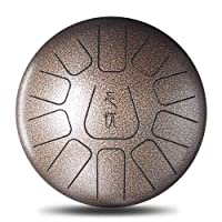 Domeilleur 10Inch Steel Tongue Drum Handpan D Major 11 Notes Hand Tankdrum Bag Mallets Set