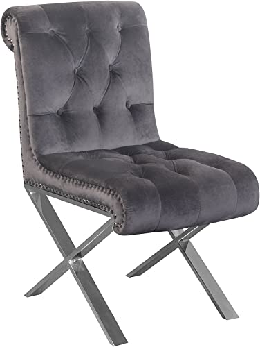 Pangea Home Z DC SLVR Set of 2 Claire Dining Chair