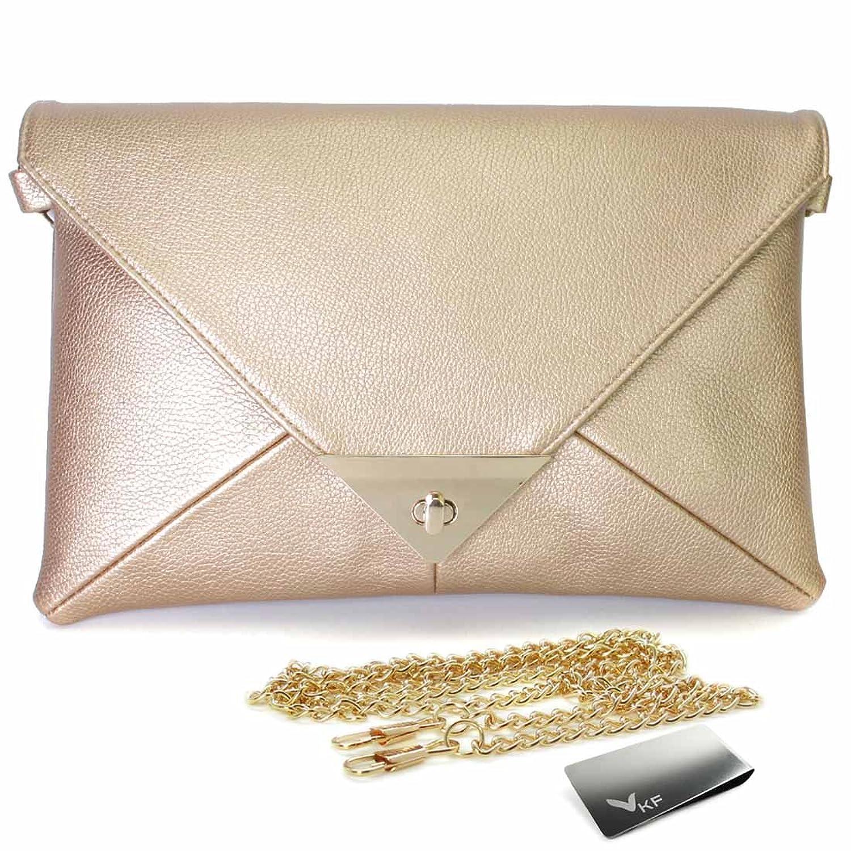 Missy K Retro Faux Leather Envelope Clutch Purse, + kilofly Money Clip