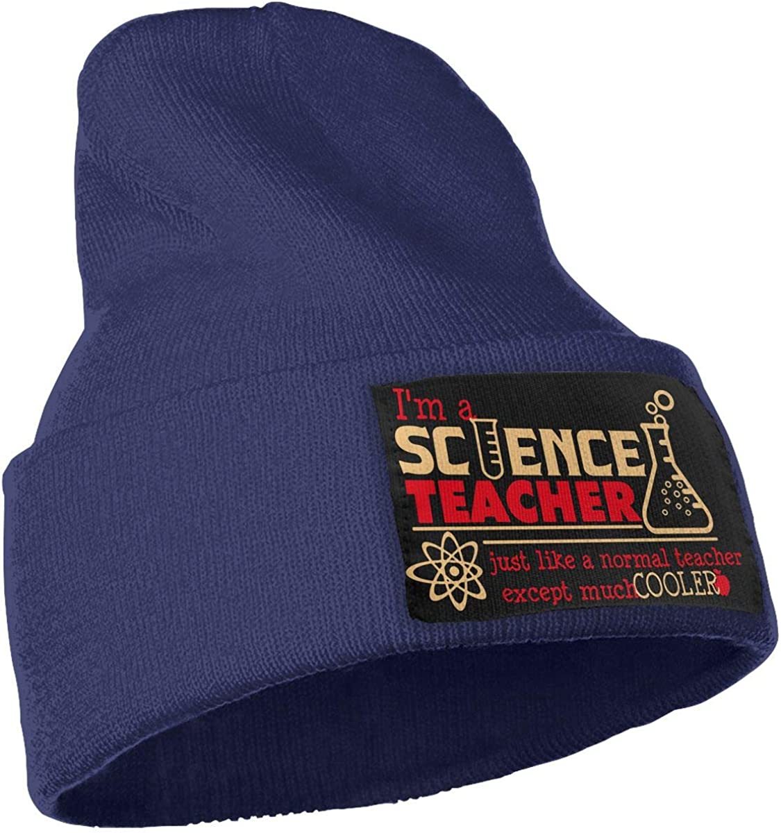 Mens Womens 100/% Acrylic Knitted Hat Cap I Am A Science Teacher Except Much Cooler Warm Ski Cap