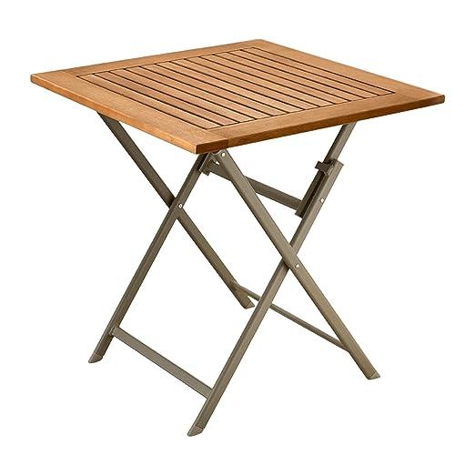 Garden Feelings Premium jardín mesa plegable mesa de madera ...