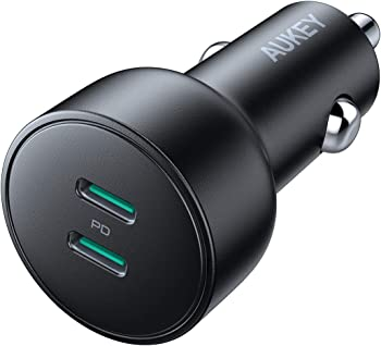 AUKEY USB C PD 36W Dual Power Delivery Car Charger