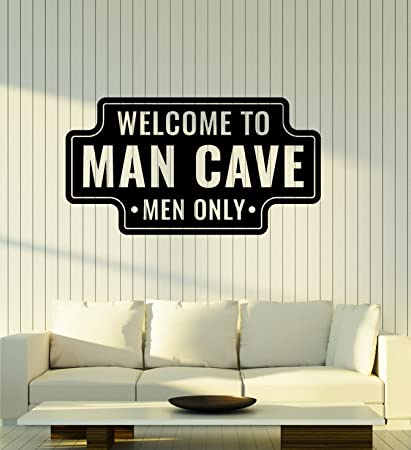 Large Vinyl Wall Decal Man Cave Funny Art For Men Garage Manspace Decor Stickers Mural Ig5134 Black Amazon Ca Home Kitchen