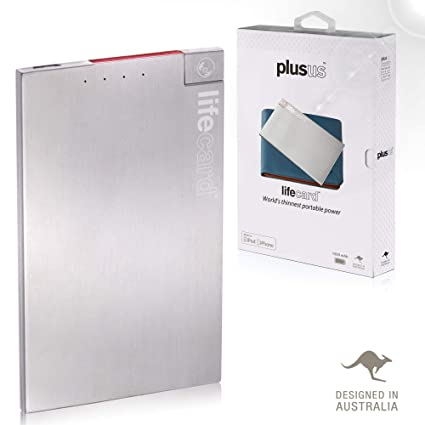 Amazon.com: PlusUs LifeCard Worlds Thinnest Power Bank ...