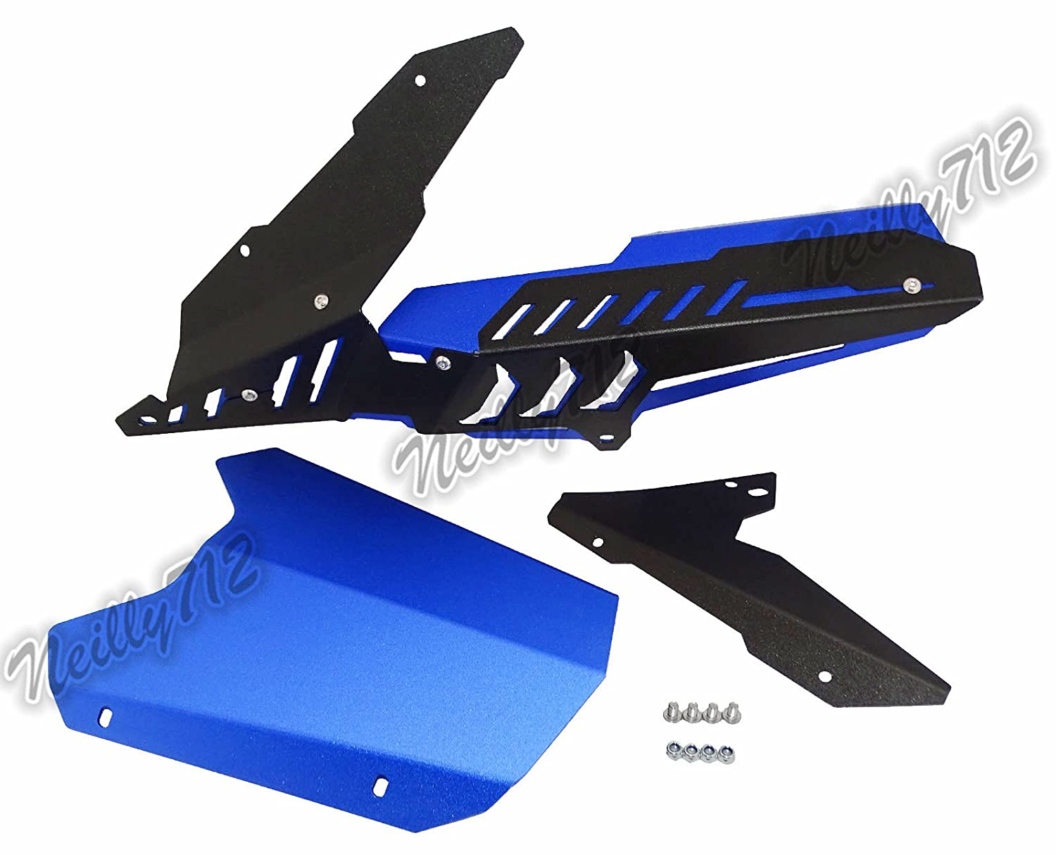 waase YZF-R3 YZF-R25 MT03 MT25 Motorcycle Rear Wheel Tire Hugger Fender Mudguard Mudflap with Chain Guard Cover Protector For Yamaha YZF R3 R25 MT-03 MT-25 2013 2014 2015 2016 2017 Black