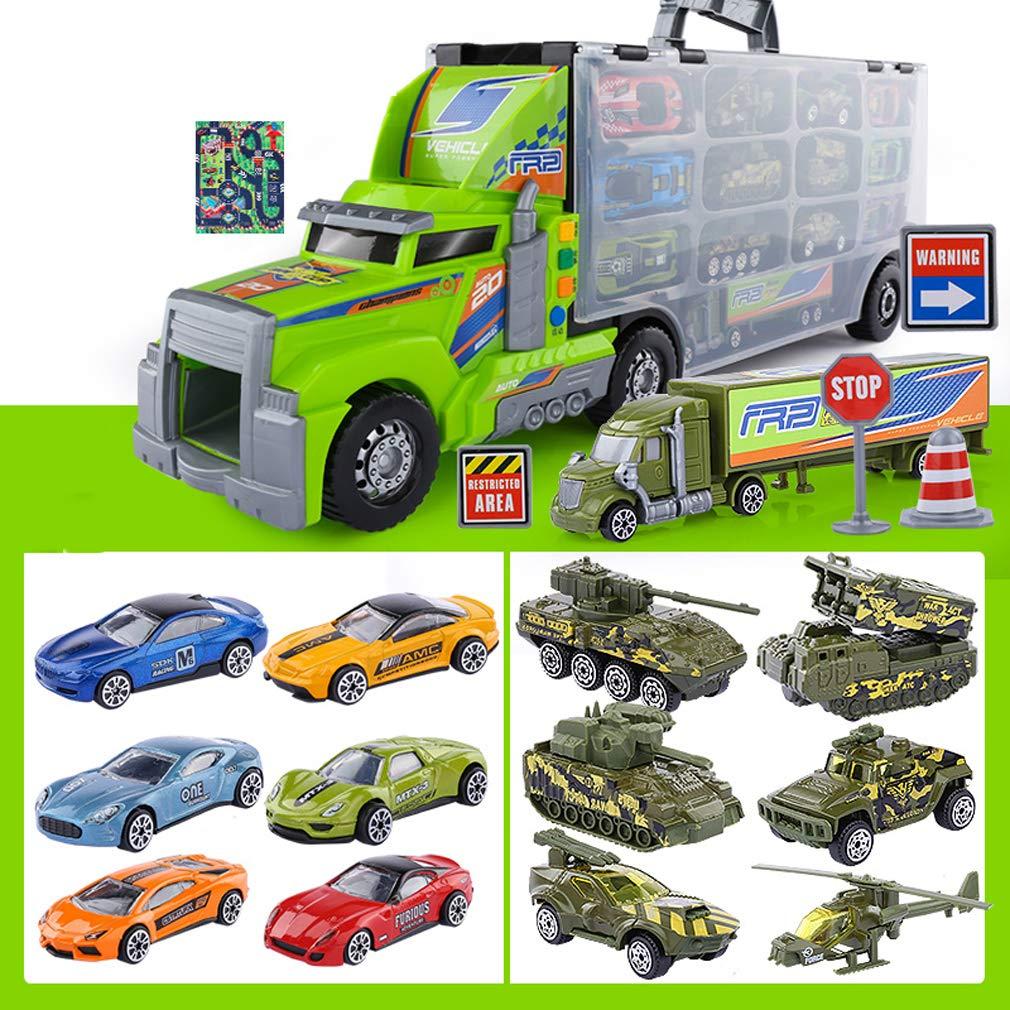 Juguete para niños Modelo de vehículo de ingeniería vehículo camión de Bomberos Excavadora grúa niño de aleación Modelo de Transporte de automóviles Modelo de camión