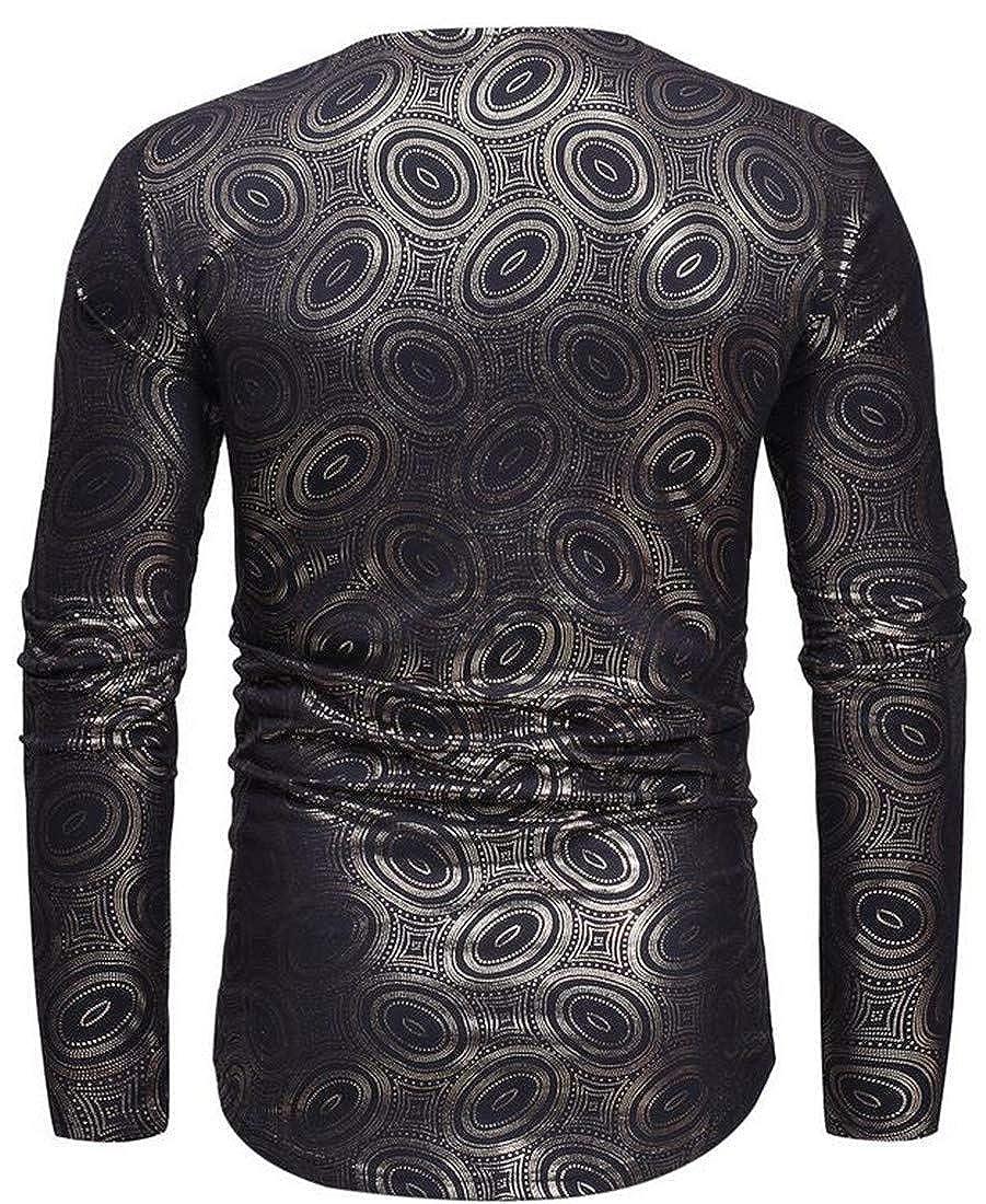 Bigbarry Mens Dashiki African Print Casual Pullover Long Sleeve T-Shirts