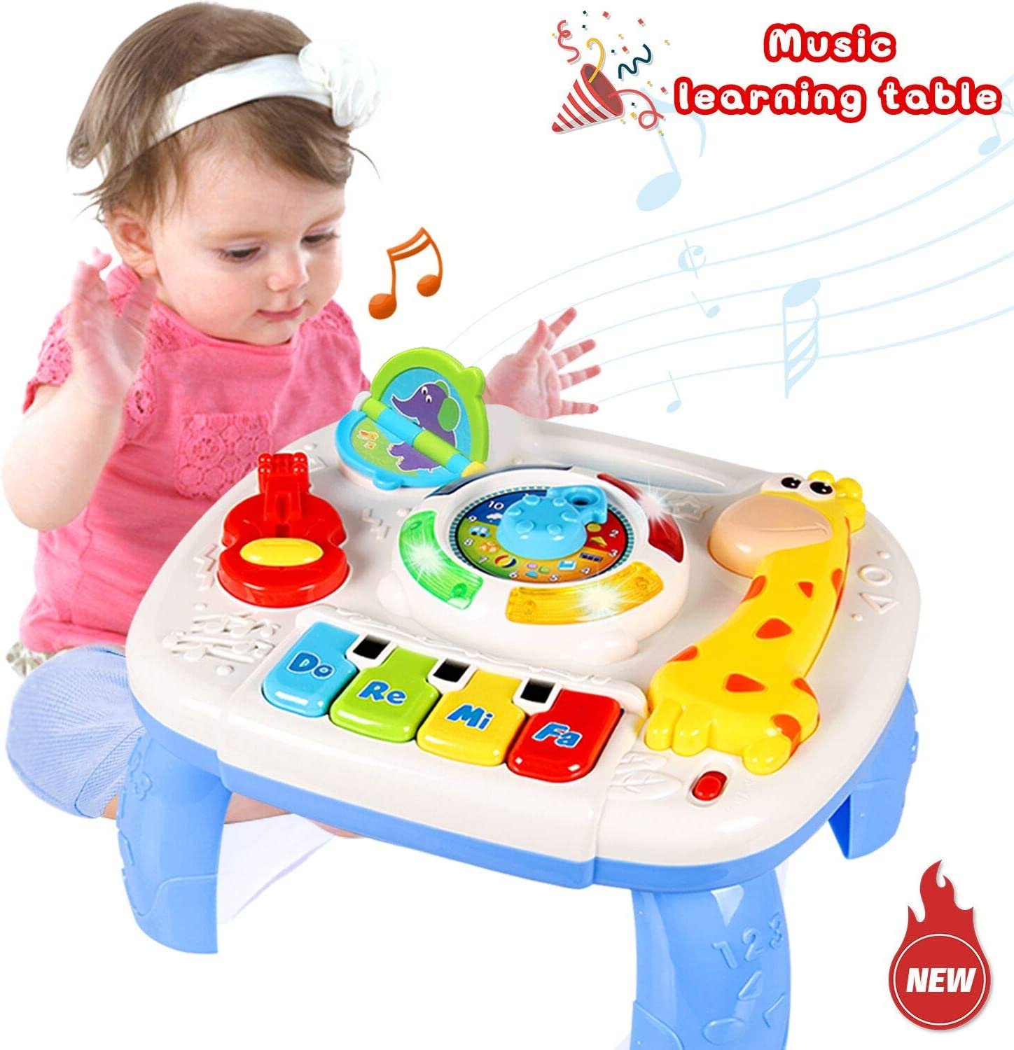 Amazon Com Homofy Baby Toys Musical Learning Table 6 Months Up Early Education Activity Center Multiple Modes Game Kids Toddler Boys Girls Toys For 1 2 3 Years Old Best Gifts Toys Games