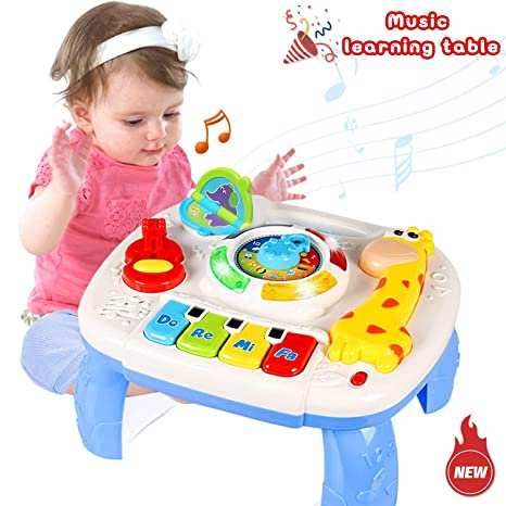 d4db4029044 HOMOFY Baby Toys Musical Learning Table 6 Months Up- Early Education  Activity Center Multiple Modes