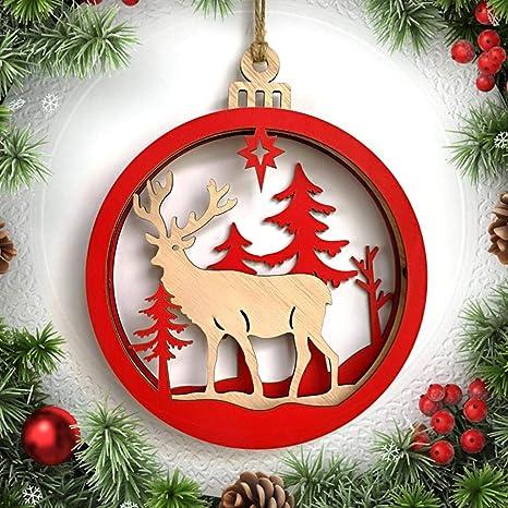 TAOtTAO 1 Pieza de Madera muñeco de Nieve Ciervo Carta Hombre Viejo Navidad árbol de Boda