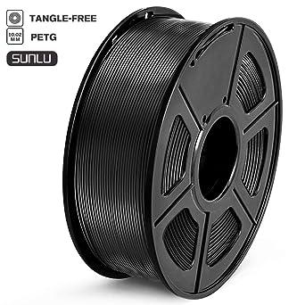 SUNLU Filamento PETG 1.75mm 1kg Impresora 3D Filamento, Precisión ...