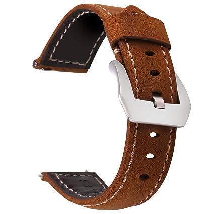Greatfine Cuero Genuino 22mm Reemplazo Pulsera para Samsung Gear ...
