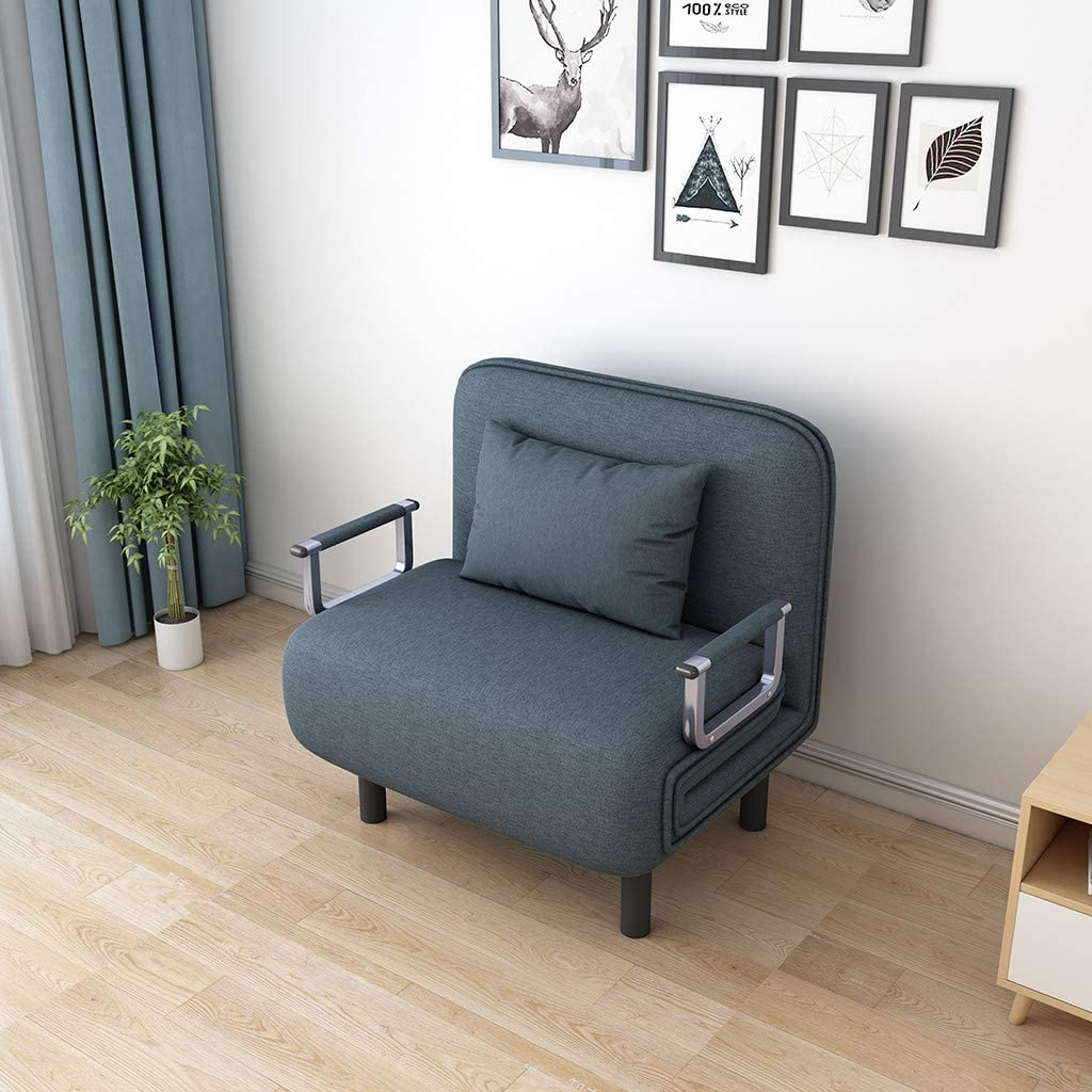 Convertible Sofa Bed Folding Arm Chair Sleeper Leisure Recliner Lounge Couch,Home Decoration, Home Office Supplies