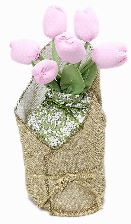 Hessian Polka Dot Fabric Tulip Flower Doorstop Decorative Floral Door Stop ~ Pink  sc 1 st  Amazon UK & Hessian Polka Dot Fabric Tulip Flower Doorstop Decorative Floral ...