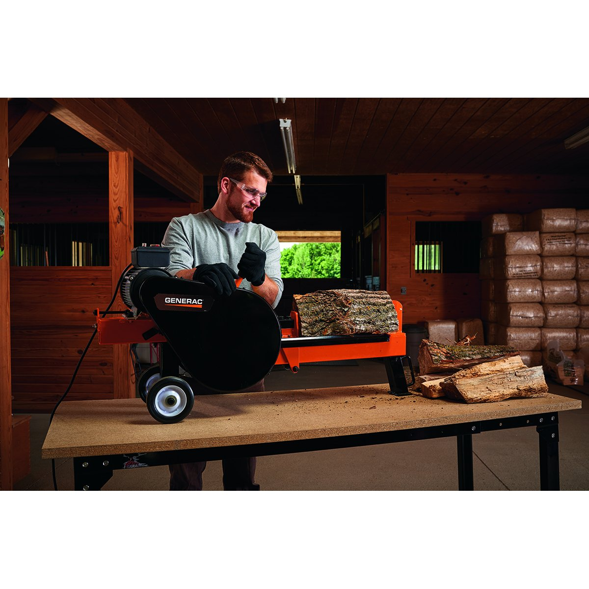 Generac K10, 10-Ton Kinetic Electric Log Splitter - 50 State/CSA Compliant