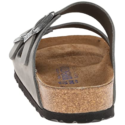 1fae415f31fe ... Birkenstock Unisex Arizona Iron Oiled Leather Sandals - 43 M EU 10-10.5  B ...
