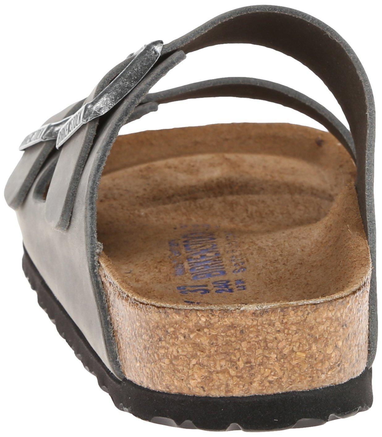 Birkenstock Unisex Arizona Iron Oiled Leather Sandals - 45 M EU/12-12.5 B(M) US Men by Birkenstock (Image #2)