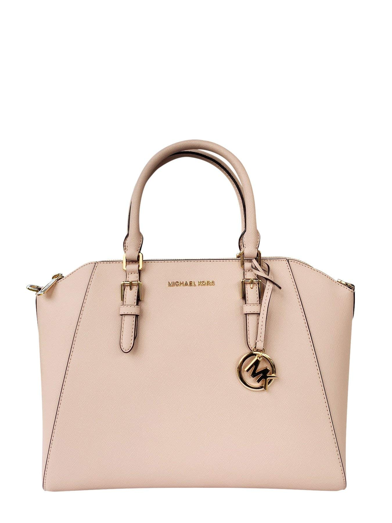 Michael Kors Large Ciara Saffiano leather Satchel (Ballet)