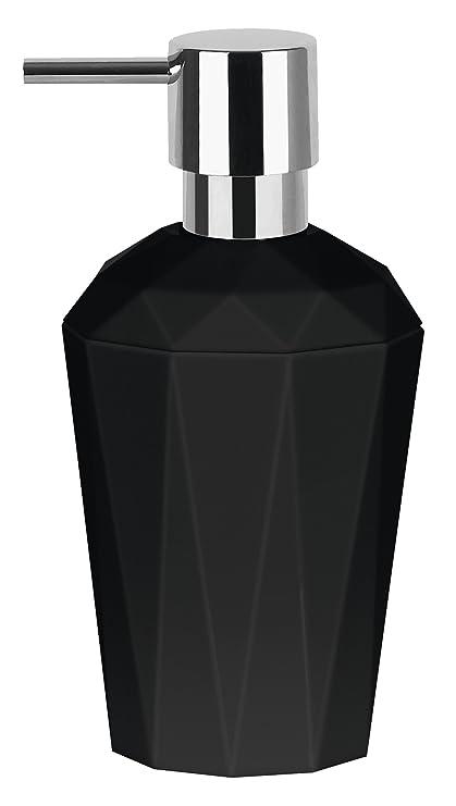 Spirella 10,18131 Crystal dispensador de jabón líquido, Negro