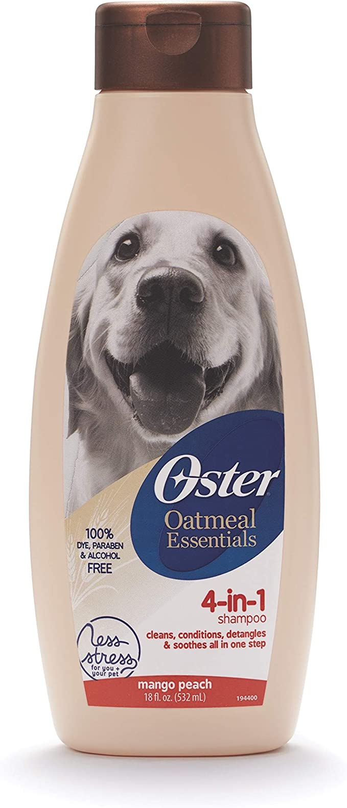 Oster Oatmeal Naturals 4-in-1 Shampoo – Best Shampoo for Pitbulls and Bulldogs with Conditioning and Detangle Properties