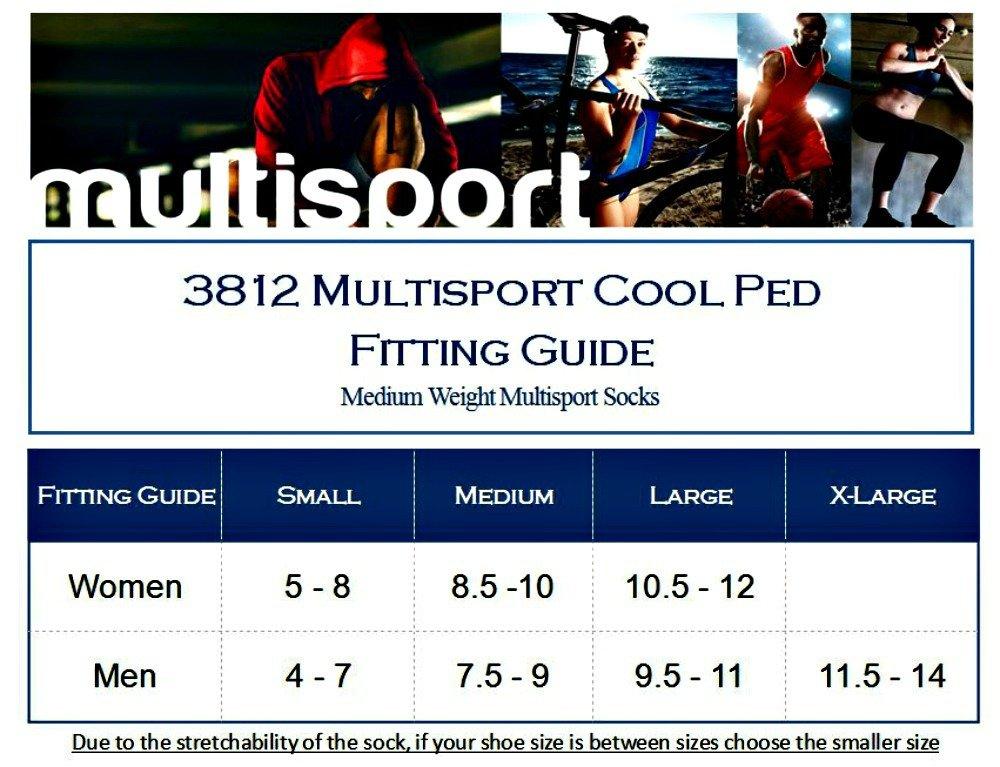 Eurosocks 3812 Multisport Cool Ped Running Cycling /& Court Sport Socks Pair