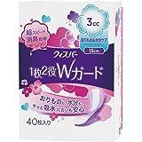 ウィスパー 1枚2役Wガード 女性用 吸水ケア 3cc おりもの&水分ケア パンティライナー 40枚入り 15cm
