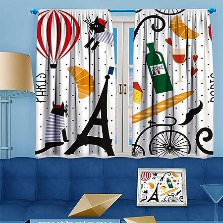 Vroselv Embossed Thermal Weaved Grommet Blackout Curtains French