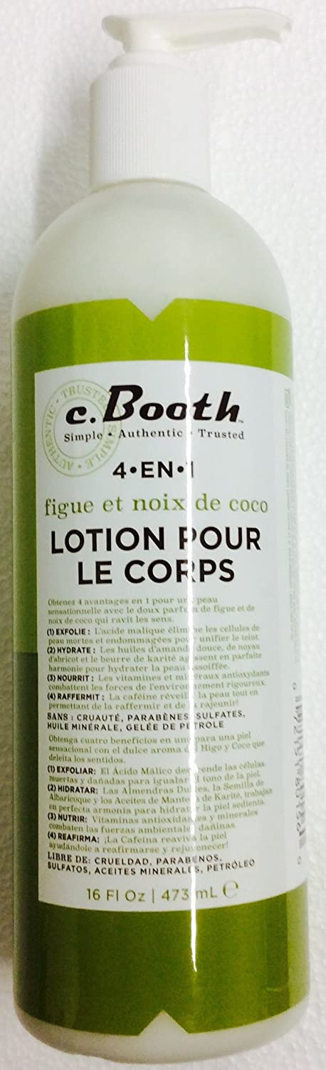 Amazon.com : c.Booth 4-in-1 Multi-Action Coconut Fig Body Lotion, 16 Fluid Ounce : Beauty