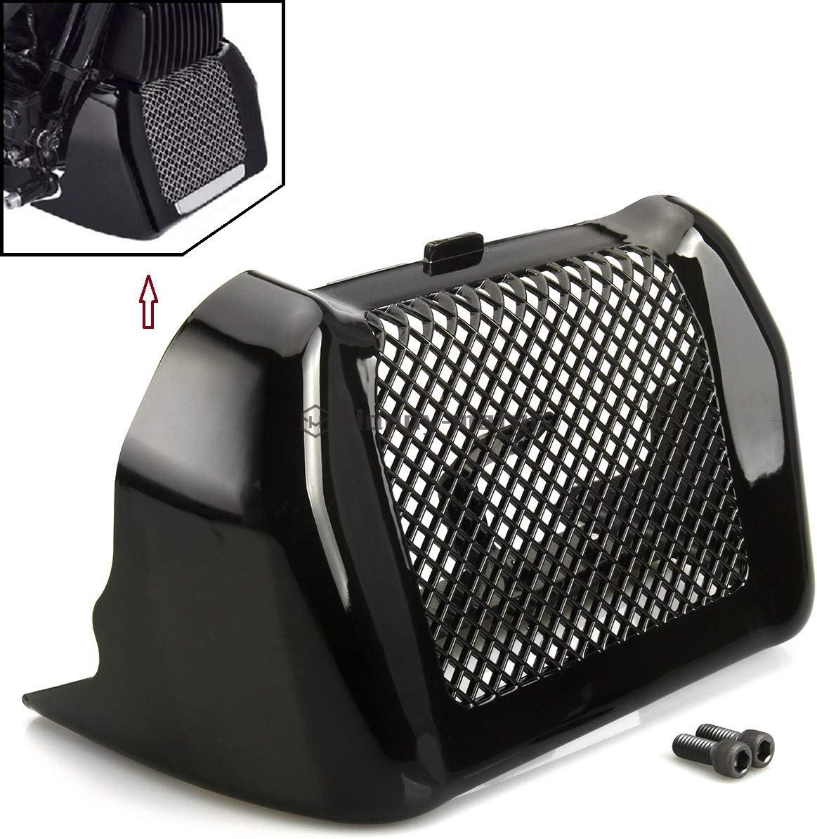 Black Oil Cooler Cover Case Radiator Guard Fit for harley Touring Street Glide FLHX Special FLHXS Road Glide FLTRX 2017-2018