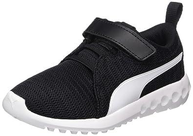 Puma Unisex-Kinder Carson 2 V PS Sneaker, Schwarz Black White 02, EU ... 47ea070172
