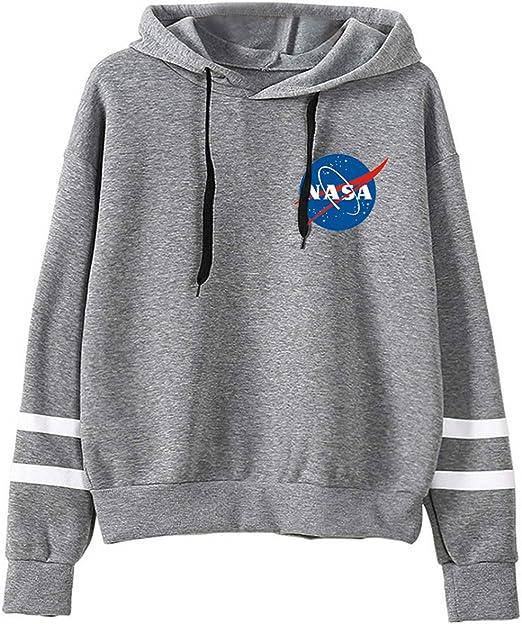 NASA Space Logo Astronaut Kapuzenpulli Hoodie Herren Damen Lange Ärmel Zipper