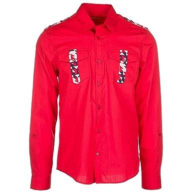 Jeans Longues uk Chemise Homme 38 Rouge Manches 48 À Versace Eu qnSxpdRq7 754c5840c38