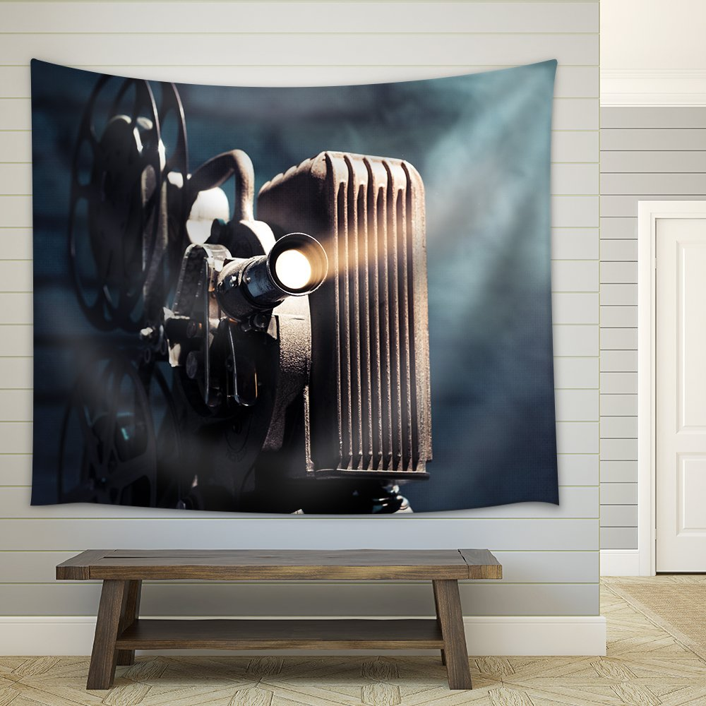 wall26 - Photo of an Old Movie Projector - Fabric Wall Tapestry Home Decor - 51x60 inches