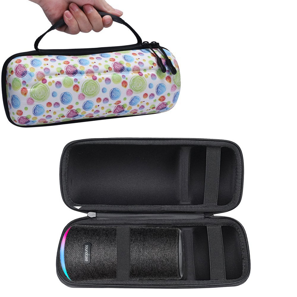 Hard Protective Travel Carrying Bag Cover Case for Anker Soundcore Flare Portable Bluetooth 360° Speaker (Bubble Pattern)