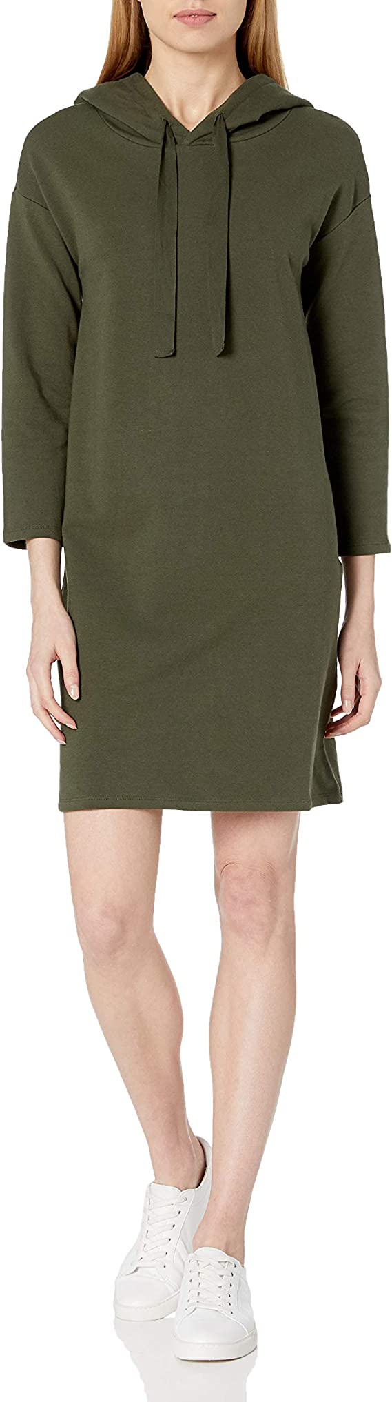 Daily Ritual Women's Terry Cotton and Modal Bracelet-Sleeve Sweatshirt Dress Sweater dresses for women