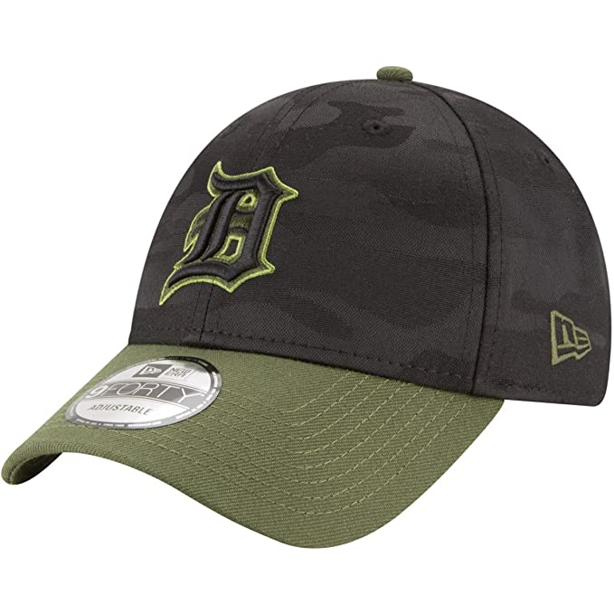 Image Unavailable. Image not available for. Color  New Era Detroit Tigers  2018 Memorial Day 9FORTY Adjustable Hat 5016a81ab59b