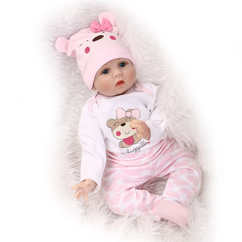 10ccc2643a734 NPK Collection Reborn Baby Doll Soft Silicone 22inch 55cm Newborn Baby Doll  lifelike Vinyl Dolls Lovely bear birthday gift