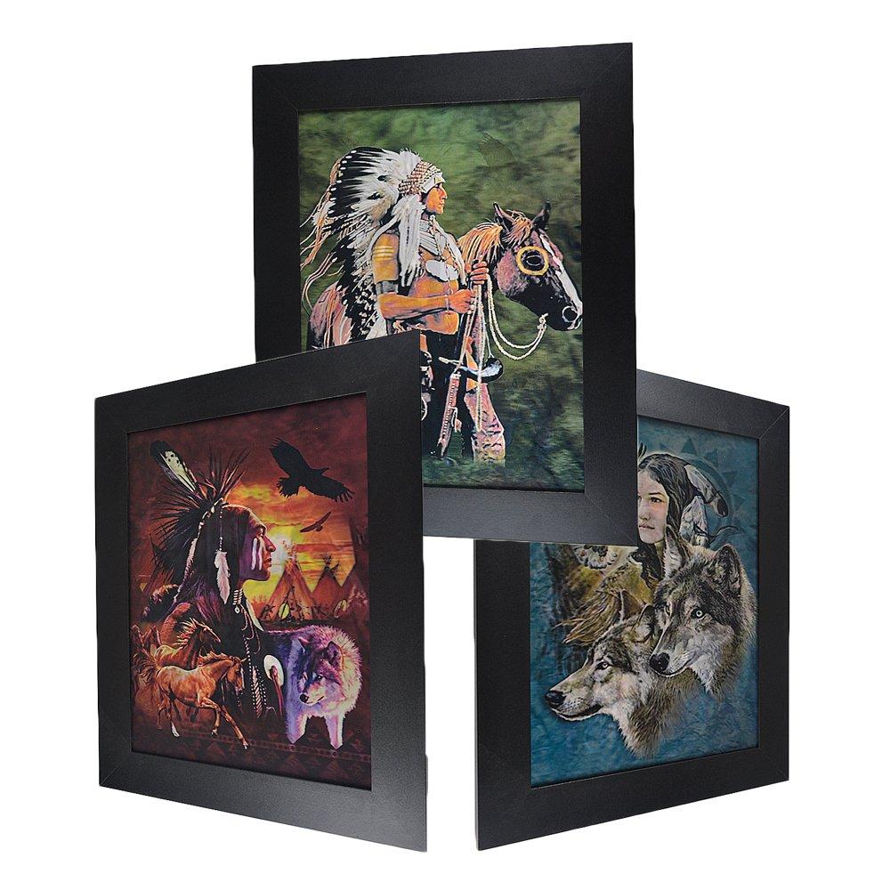 3D Lenticular Framed Native Picture - Native & Animals